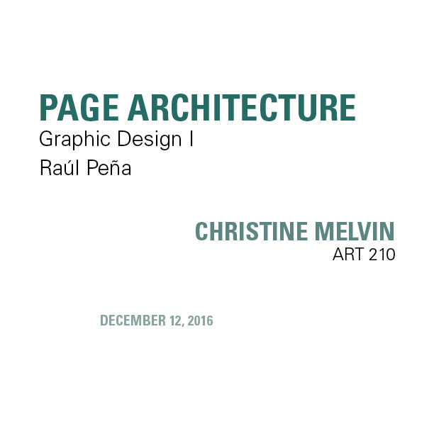page architecture